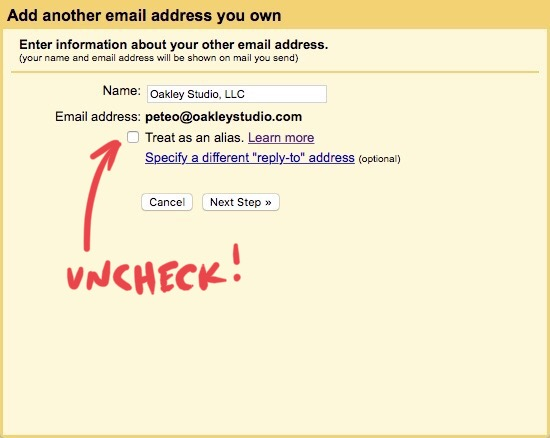 Gmail settings - Email Display