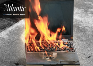 Atlantic Magazine - Burning Laptop