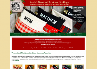 Annie's Woolens Christmas Stockings