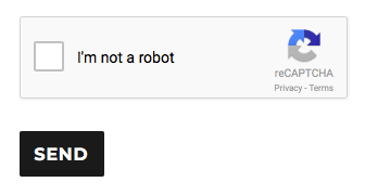 Google Recaptcha checkbox to prove you are a human being.