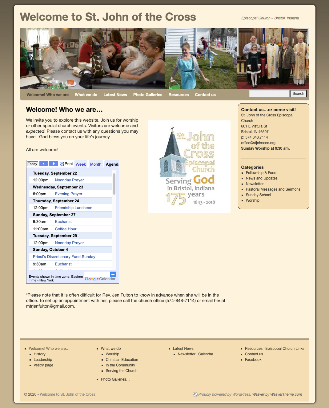 Home Page - St. John of the Cross Episcopal Church
